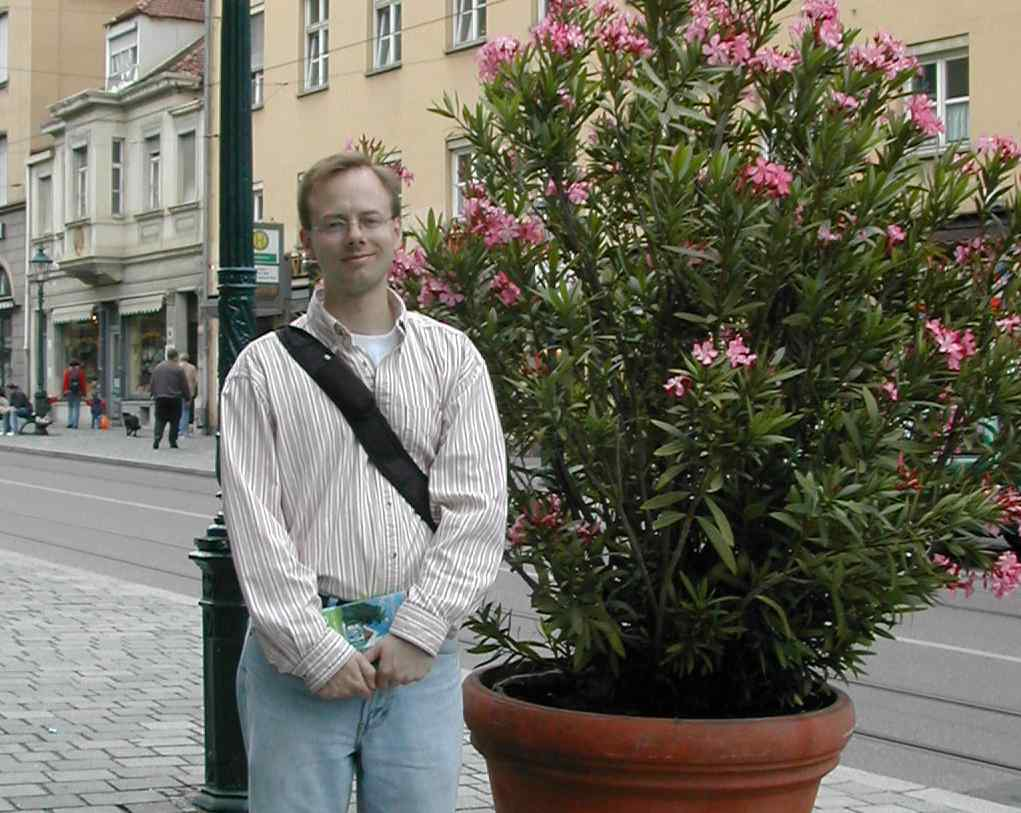 Nathan with oleander - Augsburg